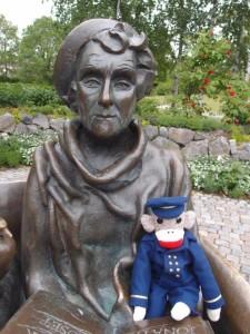Captain Eugene with Astrid Lindgren