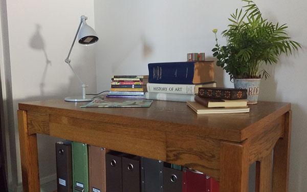 Eileen Beha's writing desk