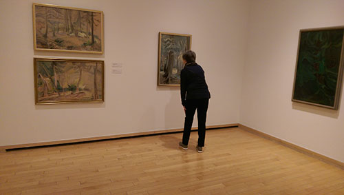 Eileen at Vancouver Art Gallery, November 9, 2017