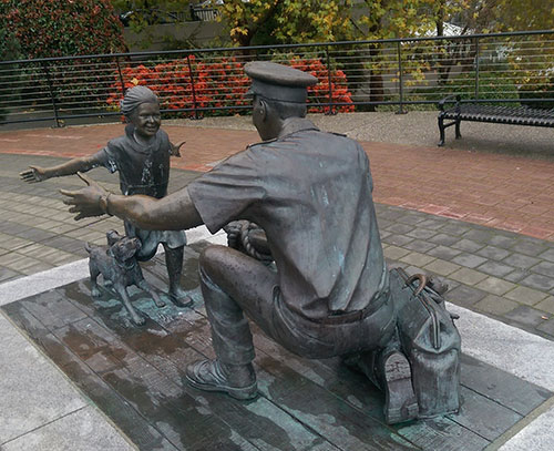 The Homecoming, Nathan Scott, sculptor,Victoria, BC