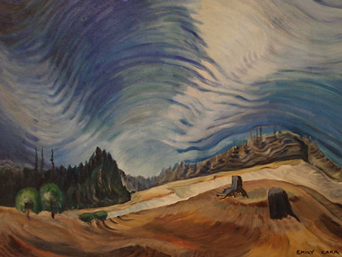 Above the Gravel Pit, oil on paper, 1936