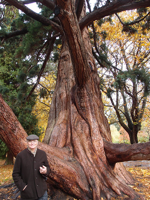 Beacon Hill Park, Victoria, with Ralph in front of tree