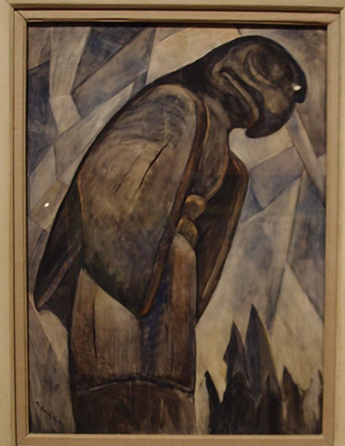 Big Eagle, Skidigate BC, Emily Carr, oil on paper, 1930