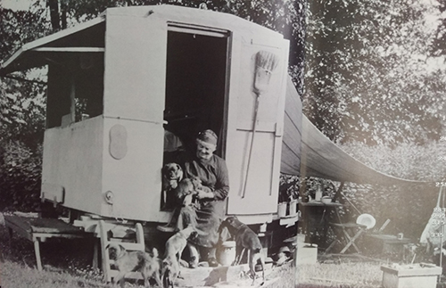 Patricia Morley, Emily Carr and Her Caravan at the South-west End of Esquimate Lagoon, 1934